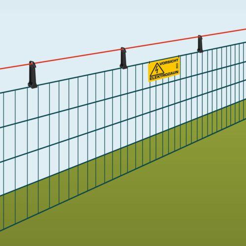 Spezial Isolatoren Garten Abstands Isolator für Doppelstabmattenzäune 6//5//6 mm