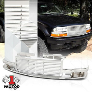 Chrome-ABS-Horizontal-Bar-Billet-Grille-Grill-for-98-04-GMT325-GMT330-S10-Blazer