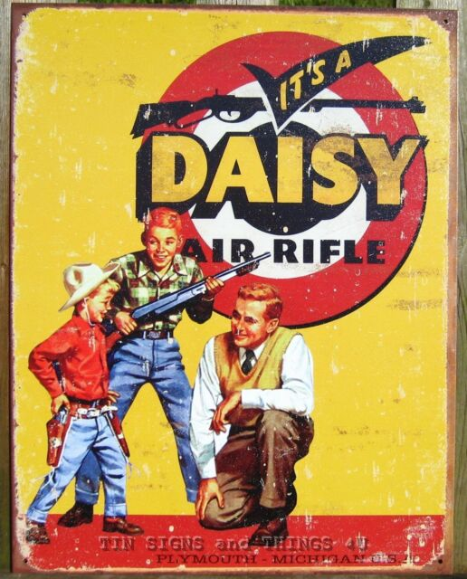 Daisy/'s Red Ryder Gun Book cover metal tin sign metallic home kitchen wall art
