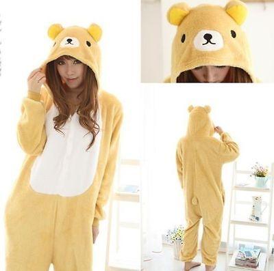 Unisex ·Adult Pajamas Kigurumi Cosplay  Animal Onesie Sleepwear Bear