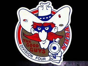 NHRA The Good Guys Division Four - Original Vintage Racing Decal/Sticker