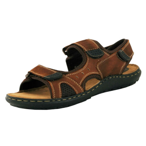 Para hombres Cuero Correa Doble Sandalias De Playa Verano Playa Mulas Zapatos Talla