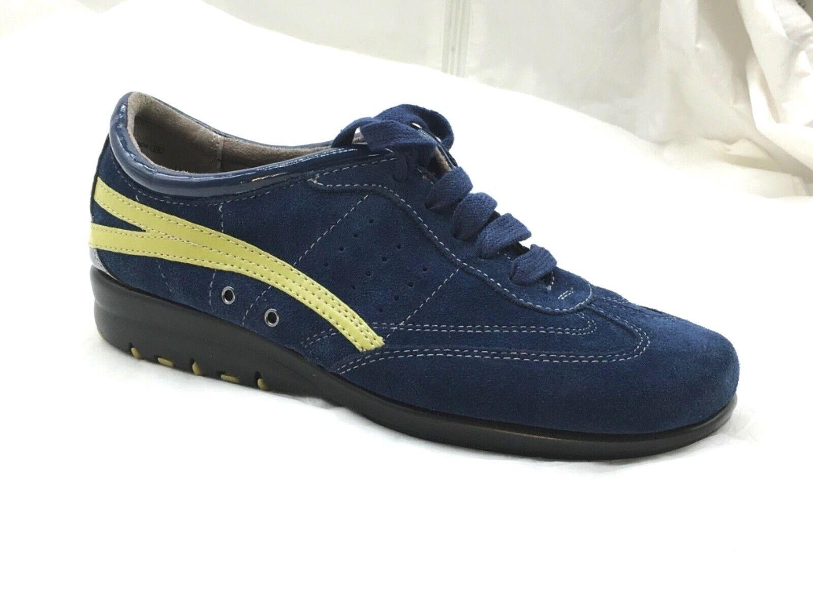 Aerosoles womens ladies bluee 9.5 suede tennis walking running shoes Stitchnturn