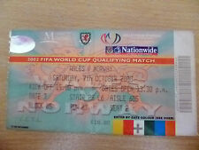 Tickets- FIFA World Cup 2002 Qualifying- WALES v NORWAY, 7th October 2000