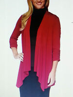 Simonton Says George Simonton Red Cardigan Top Large L 14-16 Blouse Qvc