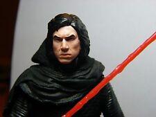 Star Wars Black Series 6 inch Custom Unmasked Kylo Ren painted head