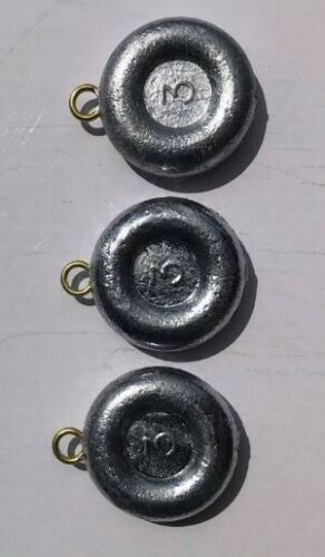 4 oz River Round Coin Flat Lead Weights 25 Sinkers Free Shipping