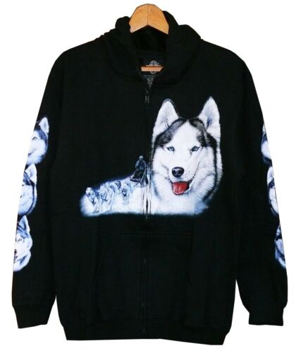 taille s m l xl Cowboy Indien Alaska chien loups Sweat veste Hoodie Husky wolf