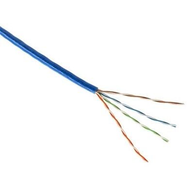 CAT5e CMR 350MHz Ethernet UTP Cable Blue 1000FT SOLID BARE COPPER