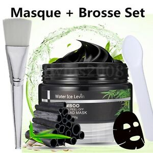 Peeling-Masque-Charbon-Bambou-Anti-Point-Noir-Acne-Black-Mask-Visage-Nettoyage