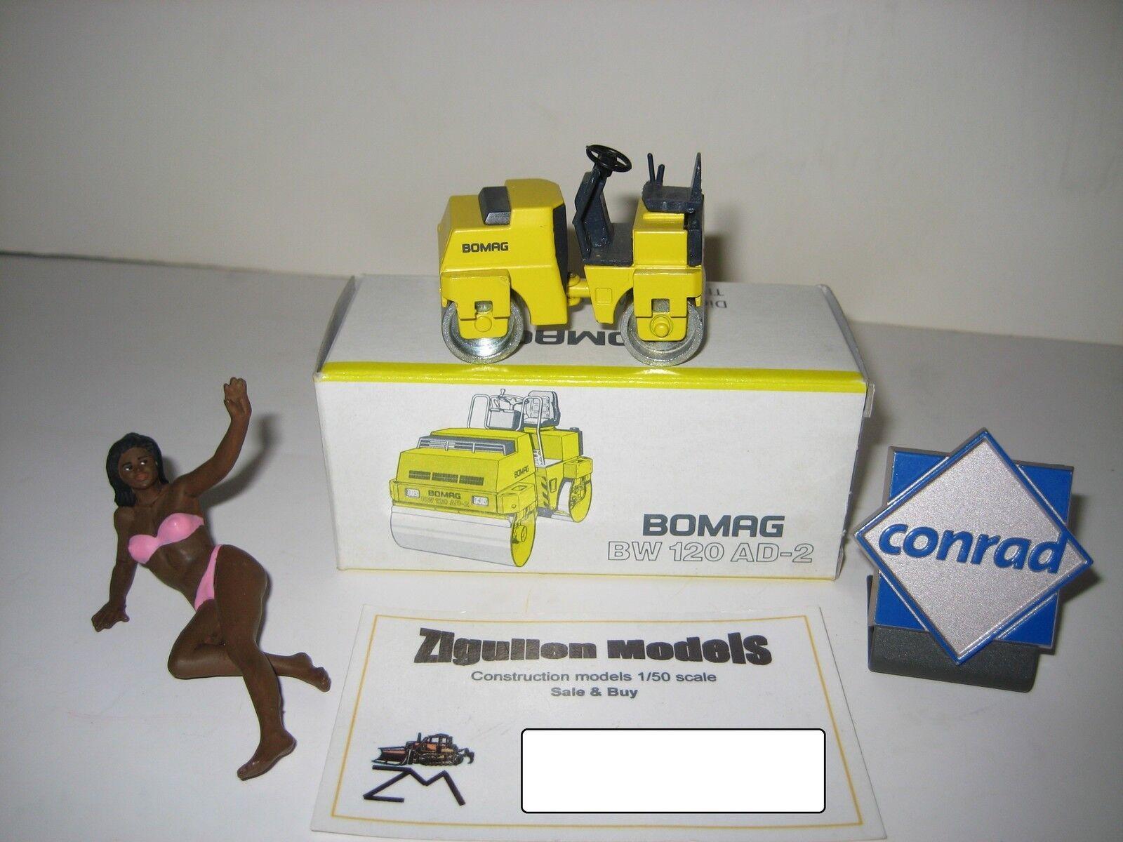 BOMAG BW 120 ad-2 RULLO #2711 Conrad 1:50 OVP