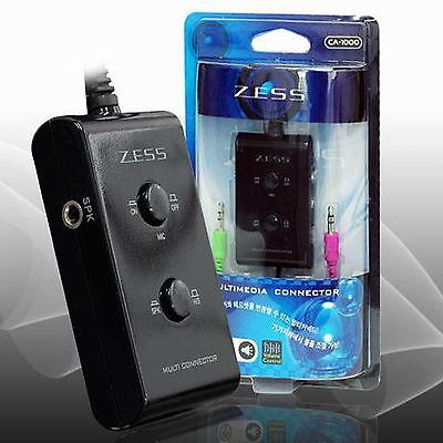 3.5mm Stereo 2 port Manual selector  Switch AUX  Headset desktop Speaker Mike