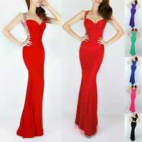 FOR XMAS~Bridesmaid Evening Party Ball Gown Formal Long PROM COCKTAIL Maxi Dress