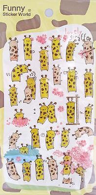 Funny Sticker World Lovely Giraffe Epoxy Sticker Sheet~KAWAII!!