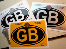 TRIUMPH GLOBE logo on GB oval car sticker 5in/125mm  TR2 4 Roadster 2000 Herald