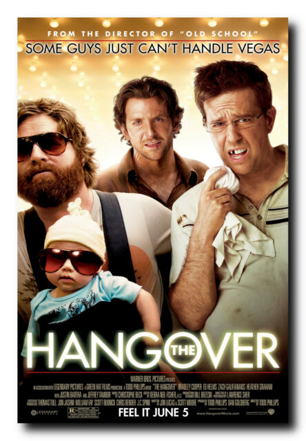 The Hangover Classic Movie Poster Art Print A0 A1 A2 A3 A4 Maxi