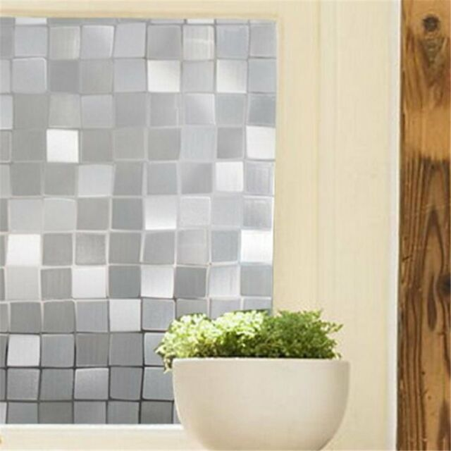 3D Static Cling Cover Frosted Window Glass Film Sticker Privacy Home Decor Chic