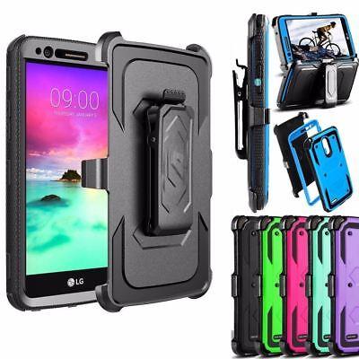 sale retailer 14651 3dcb8 ZTE Blade Spark Z971 Shockproof Hard Hybrid Holster Phone Case+Screen  Protector   eBay