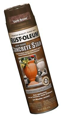 rust-oleum 247162 concrete stain spray, earth brown, 15