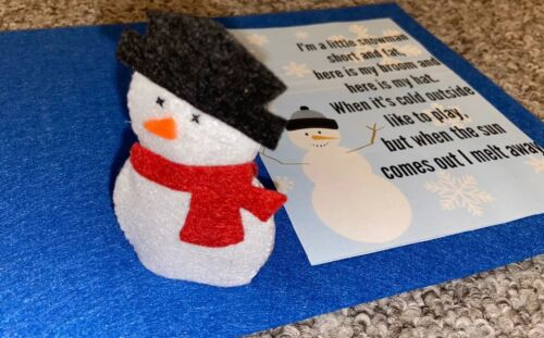 Australian Handmade Snowman Felt Finger Puppet