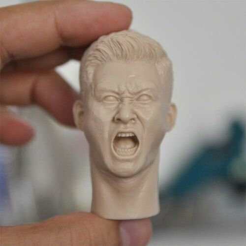 """1//6 PLA Soldier Angry Face Head Sculpt Carved F 12/"""" Male Action Figure Body Toys"""