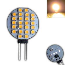 G4 LED 24 SMD 12V DC 1 Watt Warmweiß Leuchtmittel Lampe Birne Scheibe Rund 120°
