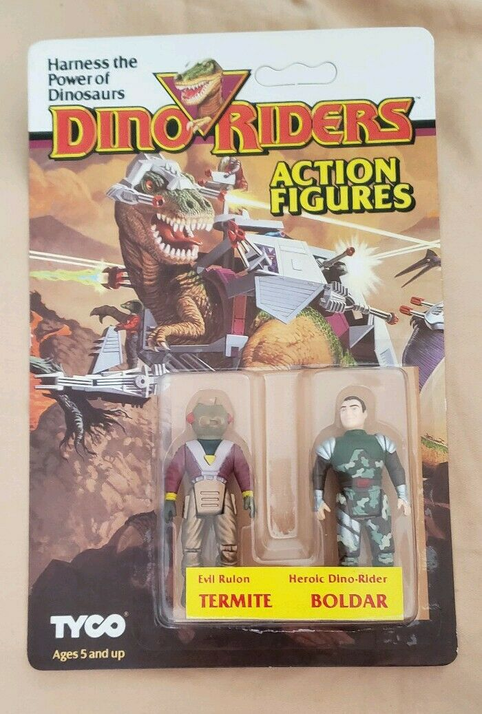 1987 Dino Riders  TERMITE   BOLDAR UNPUNCHED NEW SEALED MOC  By Tyco RARE