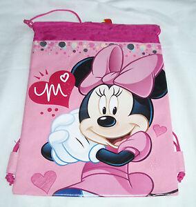 Blue Mickey Mouse Drawstring Backpack Disney Sling Tote School Kids Gym Bag :