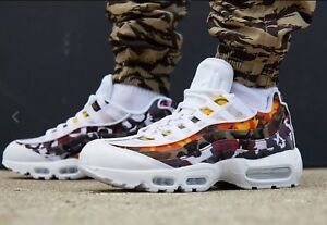10032083e0b4 Nike Air Max 95 ERDL Party Multi Camo Trainers AR4473-100 UK9.5 ...