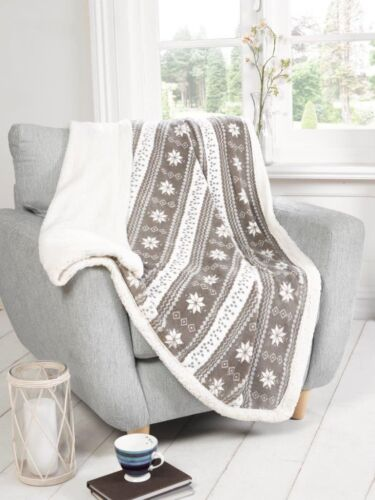 Super Soft Warm Cosy Designer Sherpa Throw Blanket Home Sofa Bed Great Designs