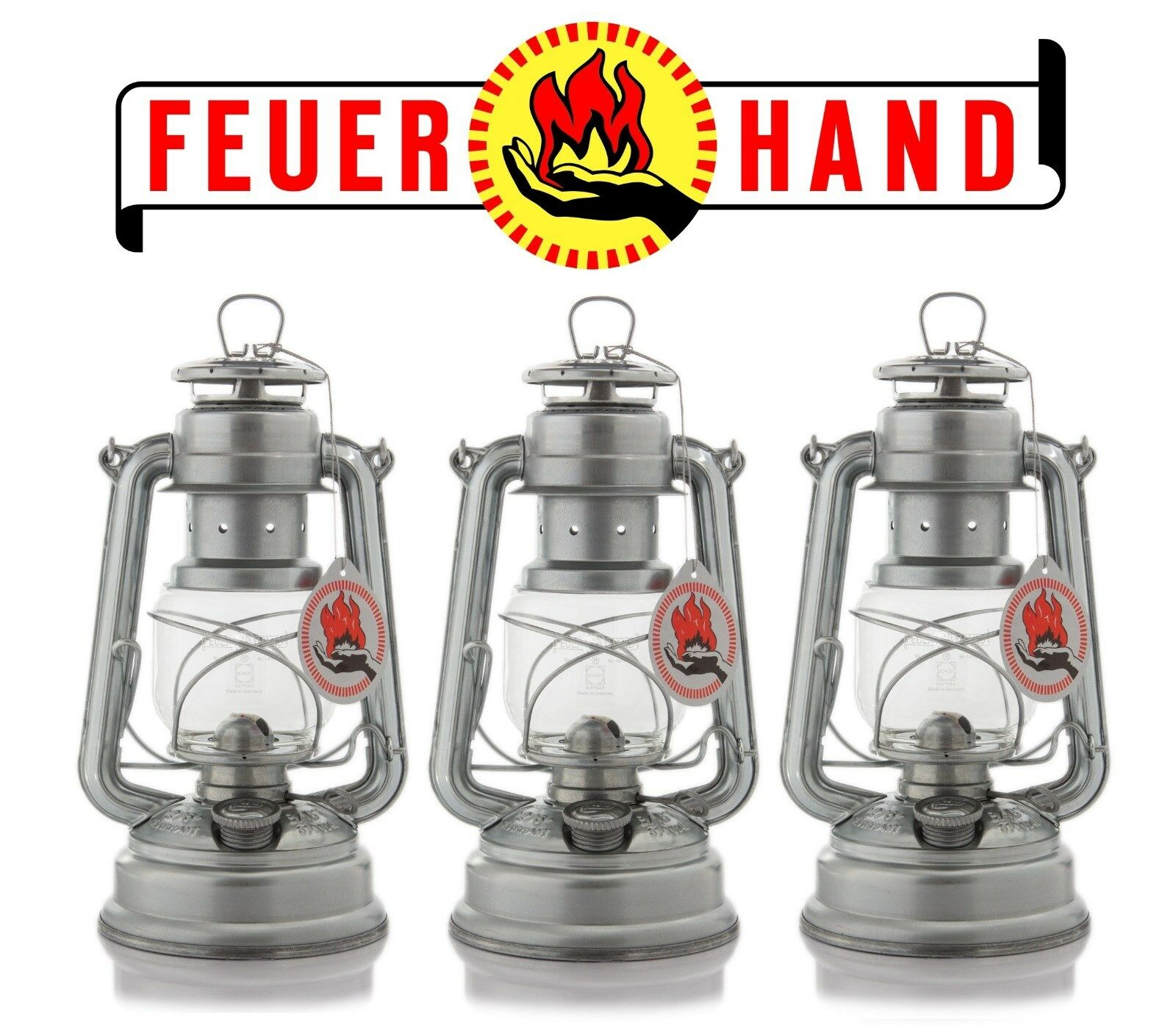 3x Feuerhand 276 Baby Special Petroleumlampe Laterne Lampe Sturmlaterne