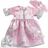 Princess Costume Pink Glitter For 15 Bitty Baby + Twins Doll Clothes