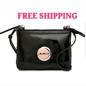 FREE-POST-MIMCO-BLACK-SECRET-COUCH-CROSSBODY-BAG-ROSE-GOLD-HARDWARE-BNWT