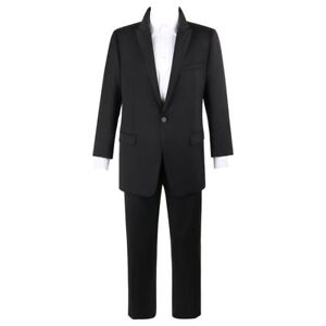EMPORIO-ARMANI-David-Line-A-W-2014-DAVID-BECKHAM-2-Pc-Black-Wool-Pant-Suit-Tux