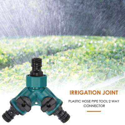 Irrigation 2 way Tap Garden Tap valve Hose Pipe Splitter Quick Connector AdaO*QE