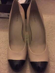 fe1c90c89 Tahari Laura Cream/Black Leather Pump Women's Shoes Size 9.5 M | eBay