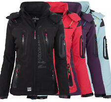 Geographical Norway Tassion Damen Softshell Funktions Outdoor Regen Jacke Sport