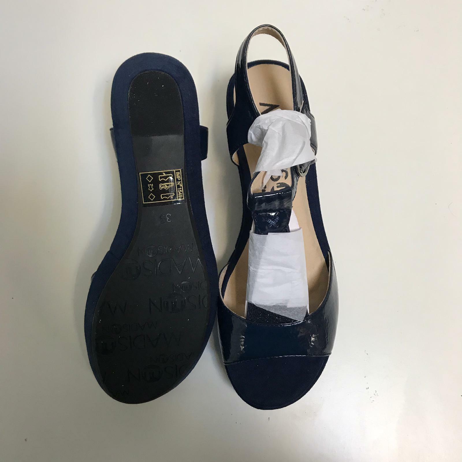 Madison Esolo Damen Schuhe Absatz Frauen Pumps Absatz Schuhe 6,5 cm Blau Gr. 35 a52df5