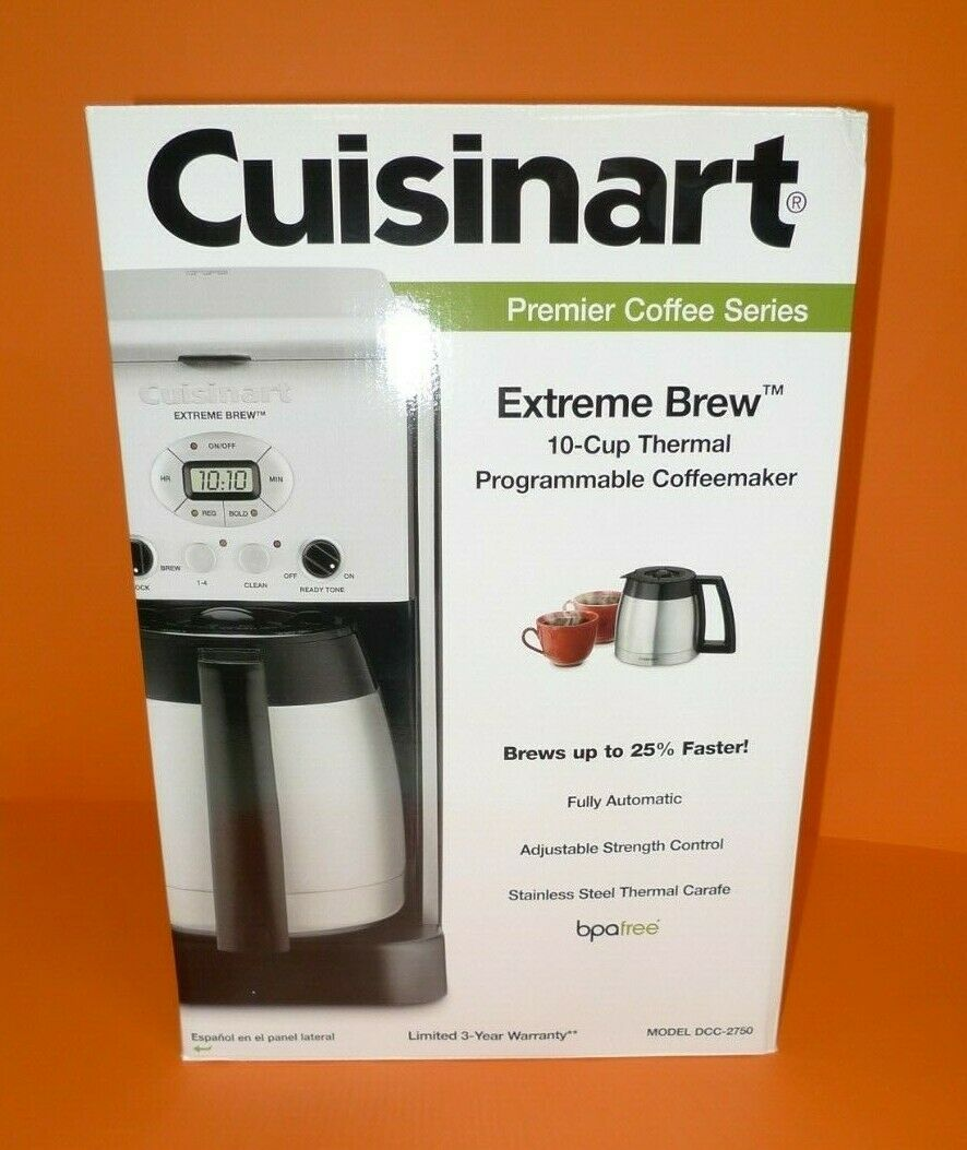 NEW Cuisinart Extreme Brew 10 Cup Thermal Programmable Coffemaker DCC-2750