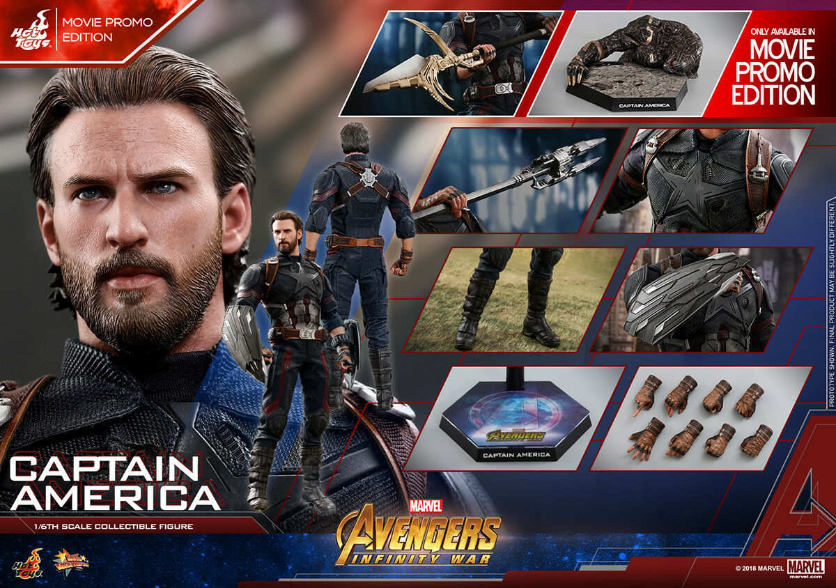 Hot Toys 1/6 Avengers: Infinity War MMS481 Captain America Movie Promo Ver