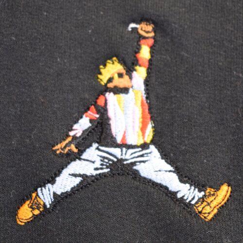 Biggie x Jordan Mic Slam Dunk Hip Hop BIG Black Crew Neck Sweatshirt by AF