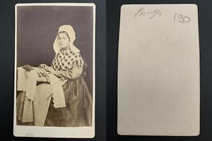 Dentelliere-flamande-Vintage-carte-de-visite-CDV-Tirage-album