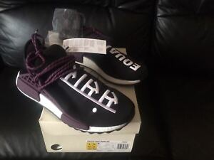 8a81a67fa 2018 ADIDAS NMD HUMAN RACE PHARRELL WILLIAMS HOLI HU BLACK PURPLE UK ...