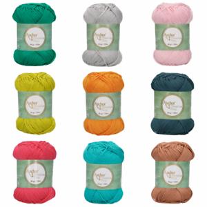 Anchor-Style-Creativa-50g-8-PLY-Crochet-Knitting-Yarn-Wool-100-Cotton