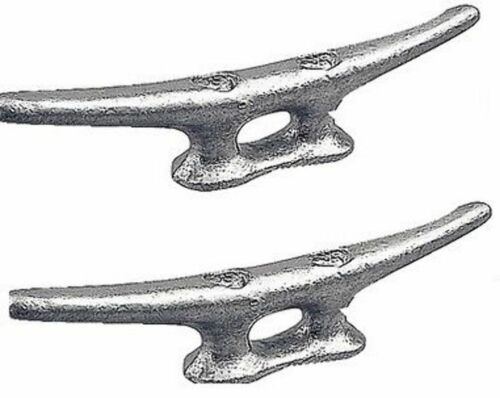 "MARINE DOCK CLEAT 4/"" GALVANIZED OPEN BASE BOAT 2 PACK"