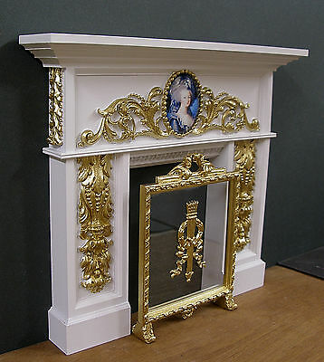 1:6 scale ~ CARVED  FIREPLACE &  SCREEN ~ for  Barbie ~ Action Figure ~ SALE !