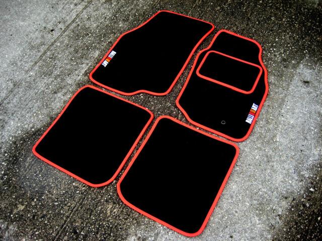 Black/Red Car Mats - Mitsubishi Lancer Evolution 9 (Evo IX) + RalliArt Logos