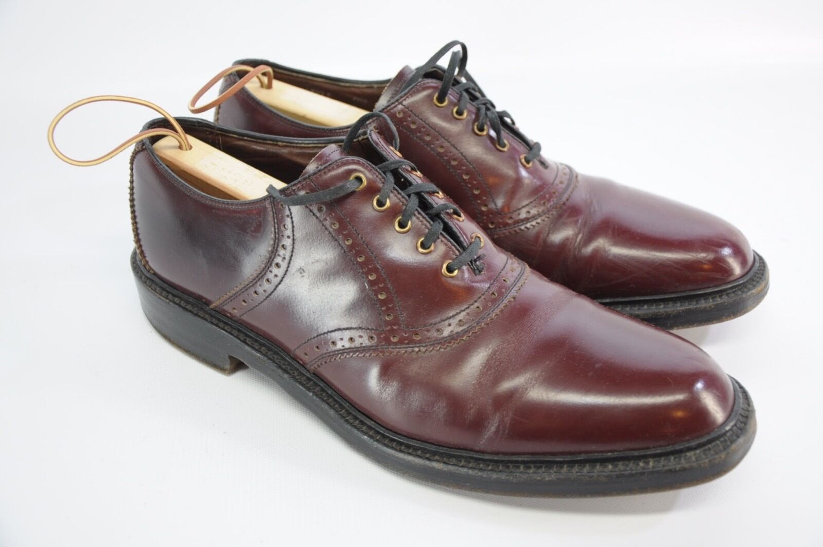 d327a84cd47a VTG VTG VTG Sears Cordovan Oxblood Leather V Cleat Gunboat bluecher Oxford  shoes 10 C 7a4f76 ...