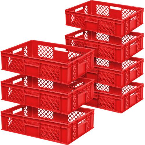 lebensmittelecht rot 7x Stapelkorb//Bäckerkiste LxBxH 600 x 400 x 150 mm