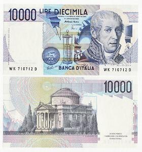 original banknotes Italy 10000 Lire 1984 P-112 UNC